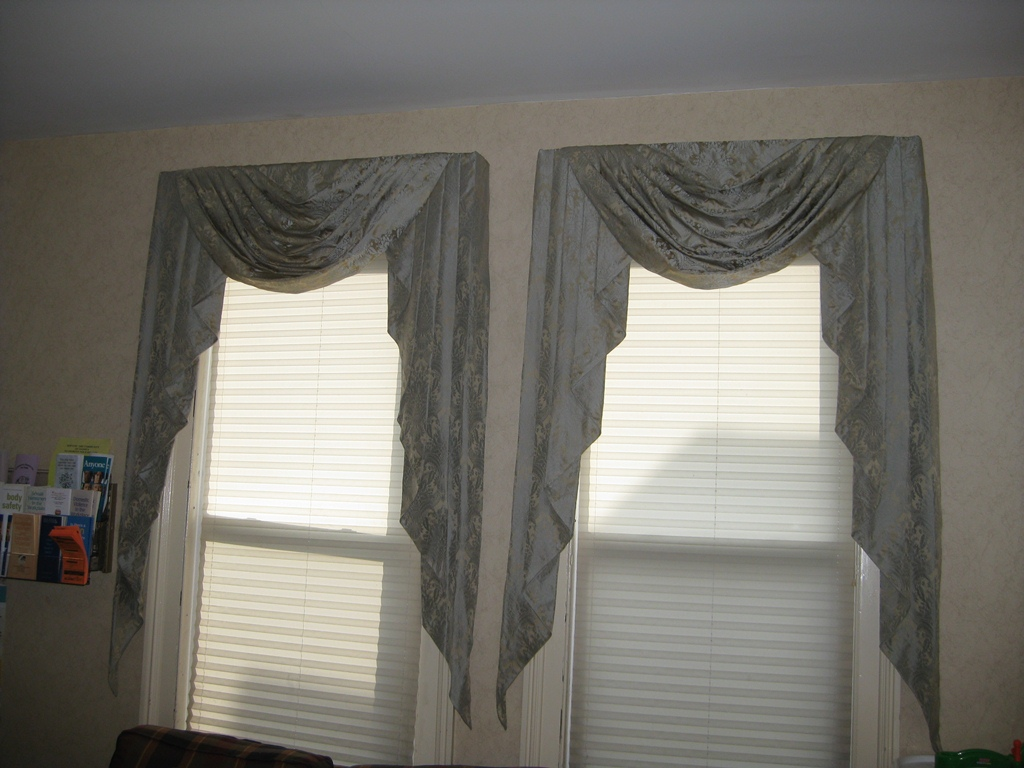 Double Curtain Rods Target Swag and Jabot Patterns