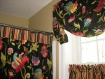Gathered Mock Roman Valance, Cafe Curtain & Shower Curtain