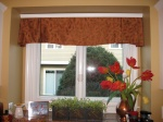 Scalloped Box Pleat Valance under Crown Molding